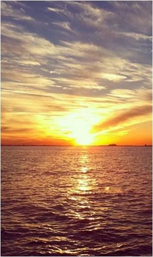 Sunset over cocoa beach florida