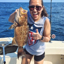 catching grouper near cocoa beach