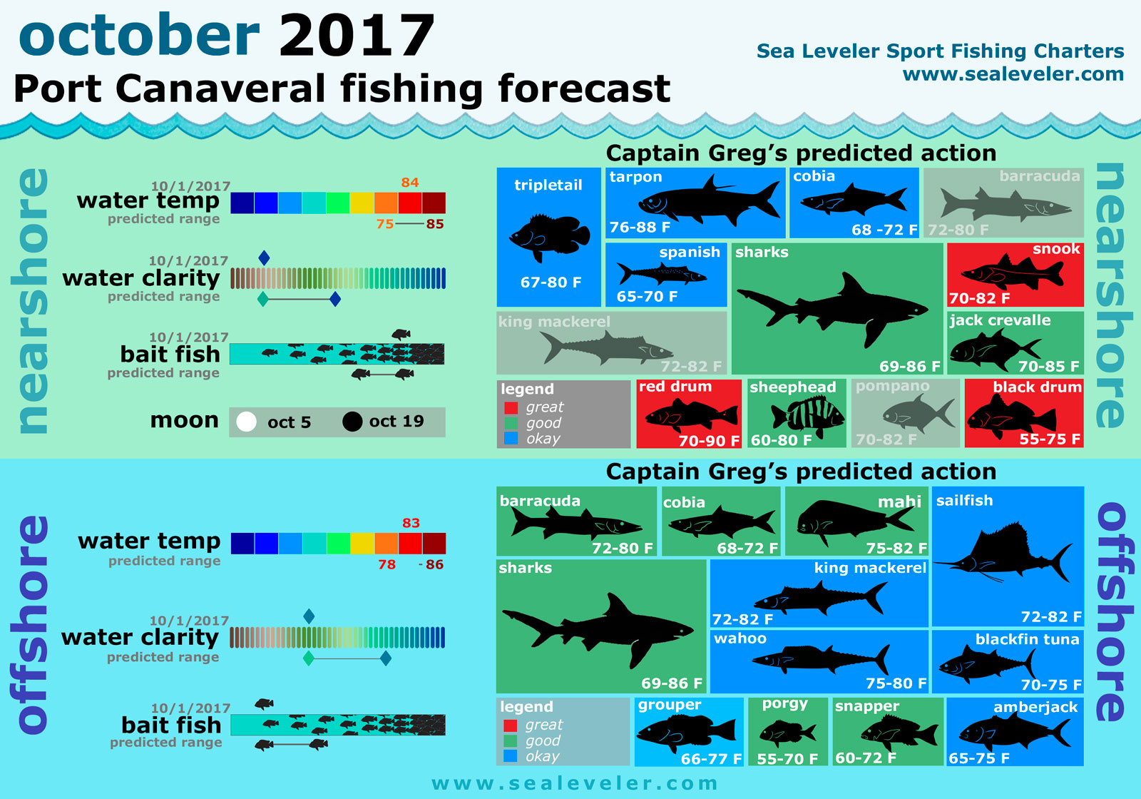 Port canaveral fishing report october 2017 sealeveler for Port canaveral fishing report